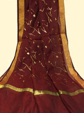 Load image into Gallery viewer, Maroon Gold Dupatta Chunni