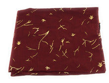 Load image into Gallery viewer, chanderi-gold-print-maroon-dupatta