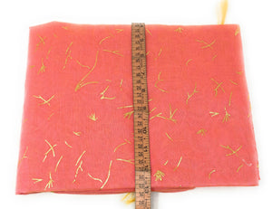 Pink Cotton Chanderi Dupatta With Gold Foil Print