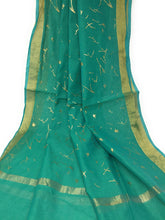 Load image into Gallery viewer, sea green Gold Dupatta Chunni