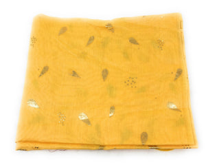 yellow-chunni-in-chanderi-fabric-n-gold-print