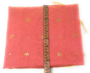 Pink chuni in Chanderi Fabric n Gold Print
