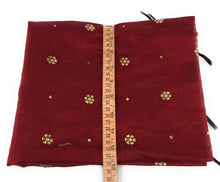 Load image into Gallery viewer, maroon chuni in Chanderi Fabric n Gold Print