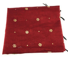 Load image into Gallery viewer, maroon-chuni-in-chanderi-fabric-n-gold-print