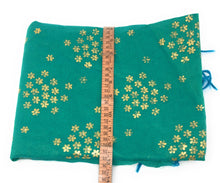 Load image into Gallery viewer, green indian dupatta in Chanderi Fabric n Gold Print