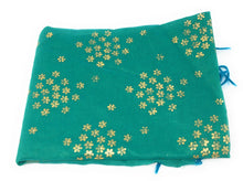 Load image into Gallery viewer, green-indian-dupatta-in-chanderi-fabric-n-gold-print