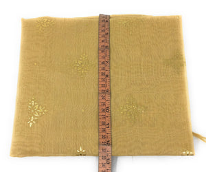 Beige stole in Chanderi Fabric n Gold Print