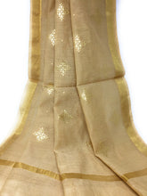 Load image into Gallery viewer, Beige Gold Dupatta Chunni