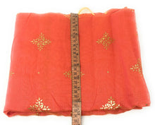 Load image into Gallery viewer, Peach Stole in Chanderi Fabric n Gold Print