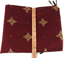 Load image into Gallery viewer, Maroon stole in Chanderi Fabric n Gold Print