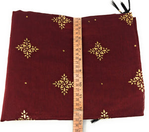 Maroon stole in Chanderi Fabric n Gold Print
