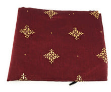 Load image into Gallery viewer, maroon-stole-in-chanderi-fabric-n-gold-print