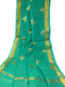 Green Gold Dupatta Chunni