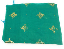 Load image into Gallery viewer, green-stole-in-chanderi-fabric-n-gold-print
