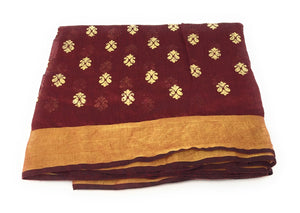 maroon-gold-print-dupatta-in-chanderi-fabric