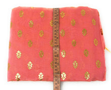 Load image into Gallery viewer, Pink Gold Print Dupatta In Chanderi Fabric