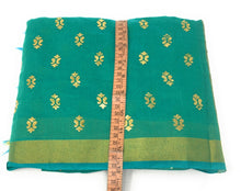 Load image into Gallery viewer, Green Gold Print Dupatta In Chanderi Fabric
