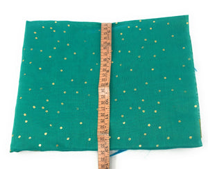 Gold Foil Printed Green Dupatta In Chanderi Fabric