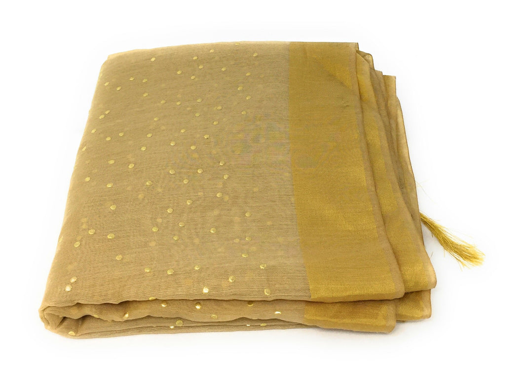golden work dupatta