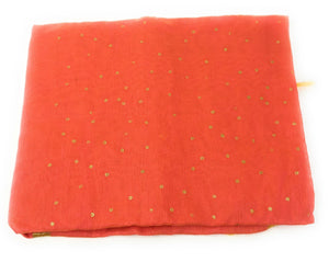 gold-foil-printed-peach-dupatta-in-chanderi-fabric