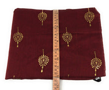 Load image into Gallery viewer, Floral Print Maroon Chanderi Dupatta