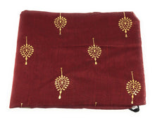 Load image into Gallery viewer, floral-print-maroon-chanderi-dupatta