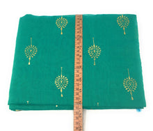 Load image into Gallery viewer, Floral Print Green Chanderi Dupatta
