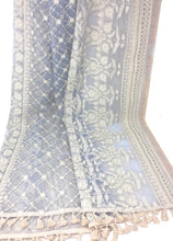 Load image into Gallery viewer, Delicate Designer Heavy Work Dupatta on Grey Net