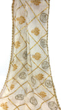 Ethnic Gota Dupatta in Soft Off White Cotton