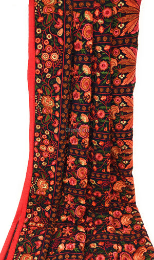 Kashmiri Embroidery Heavy Dupatta on Soft Georgette Fabric