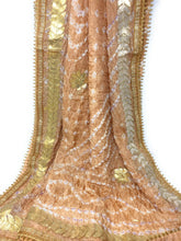 Load image into Gallery viewer, bandhani dupatta with gota patti work