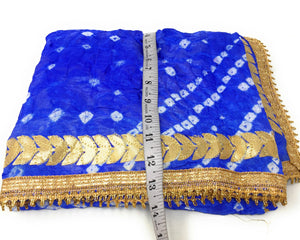 Gota Patti Bandhani Dupatta in Royal Blue