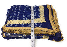 Load image into Gallery viewer, Art Silk Bandhani Dupatta in Navy Blue