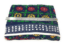 Load image into Gallery viewer, Navyblue Phulkari Dupatta, Multi Colour Embroidery, Mirror Work