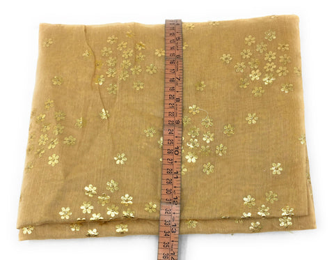 Image of Light Beige Dupatta with Gold Foil Print Work