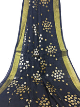 Load image into Gallery viewer, Black Gold Dupatta Chunni