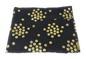 Black Dupatta with Gold Foil Print Work