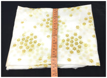 Load image into Gallery viewer, White Dupatta with Gold Foil Print Work