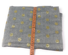 Load image into Gallery viewer, Grey Dupatta with Gold Foil Print Work