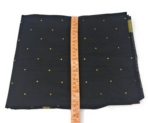 Image of Black Dupatta with Gold Foil Print Work