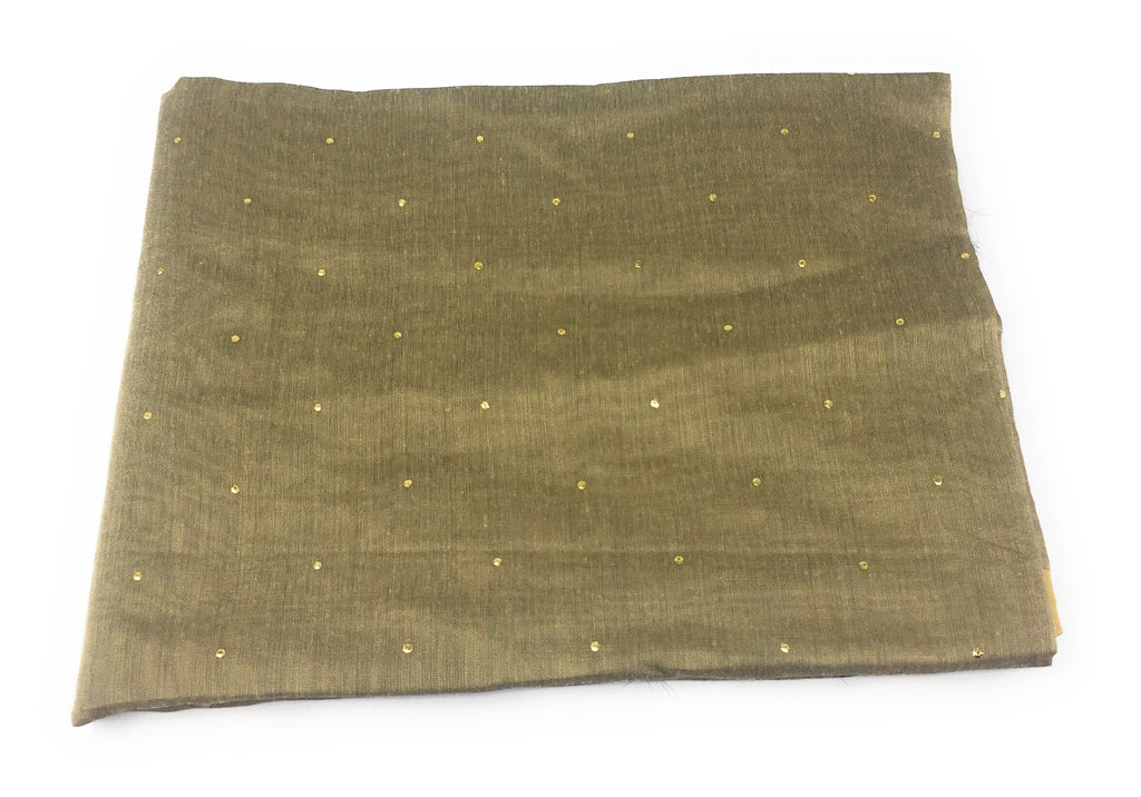 Beige Dupatta with Gold Foil Print Work