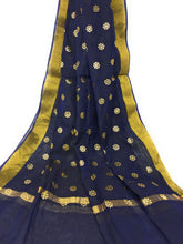 Load image into Gallery viewer, Navy Blue Gold Dupatta Chunni