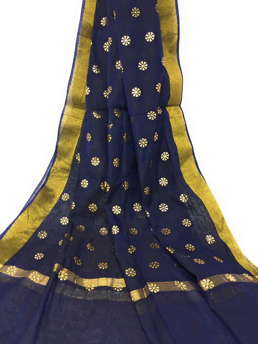 Navy Blue Gold Dupatta Chunni