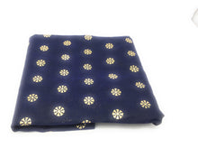 Load image into Gallery viewer, navy-blue-gold-chanderi-cotton-dupatta