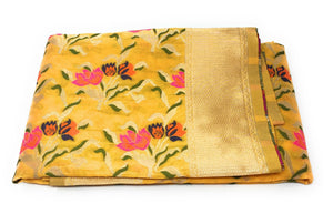 Yellow Embriodered Dupatta