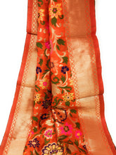 Load image into Gallery viewer, Designer Orange Banarasi Dupatta