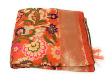 Load image into Gallery viewer, Designer Dupatta Orange Brocade