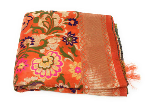 Designer Dupatta Orange Brocade