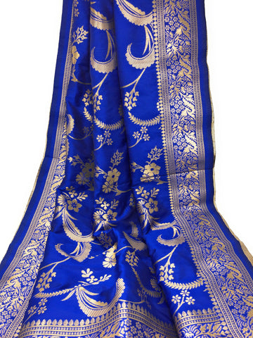 Royal Blue Latest Banarasi Dupatta