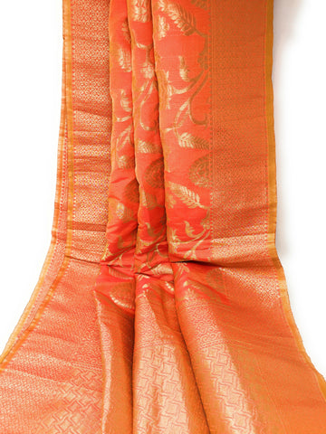 Two Tone Yellow Orange Exclusive Banarasi Dupatta